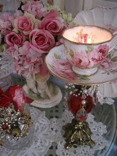 teacup candelabra - Google Search