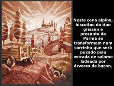 CENA ALPINA COM : BISCOITO TIPO GRISSINI, PRESUNTO DE PARMA, SALAME E BACON