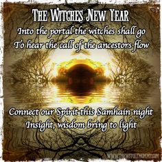 Samhain new year spell, chant, prayer Samhain Ritual, Blessed Samhain, Witch Rituals, Wiccan Sabbats, Wicca Witchcraft, Paganism, Magick Spells, Pagan Witch, Samhain Halloween