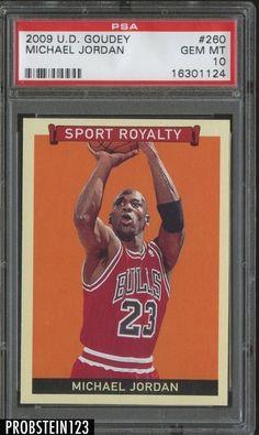 0f2ac42e4d54a5 2009 Upper Deck Goudey Michael Jordan Chicago Bulls HOF PSA 10 POP 10  Jeffrey Jordan
