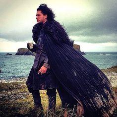 Jon Snow drinking a cup o' joe...