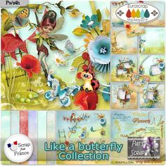 Like a Butterfly by Pat's Scrap http://scrapfromfrance.fr/shop/index.php?main_page=product_info&cPath=254&products_id=12784