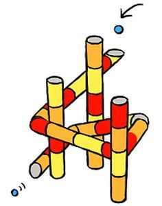Mega knikkerbaan maken van wc-rollen Activity Board, Fun Games, Bart Simpson, Diy For Kids, Activities For Kids, Recycling, Diy Crafts, School, Projects