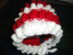 Frills Hat - Knitting creation by mobilecrafts Knitting Daily, Beanies, Daily Inspiration, 4th Of July Wreath, No Frills, Knitted Hats, Red And White, Community, Pattern