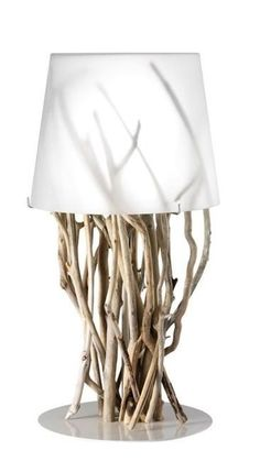 Pretty lamp made from driftwood.