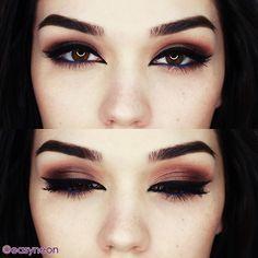 blue eyeliner - dark makeup for brown eyes