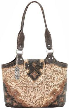 American West Honeysuckle Zip Top Fashion Tote - Sheplers
