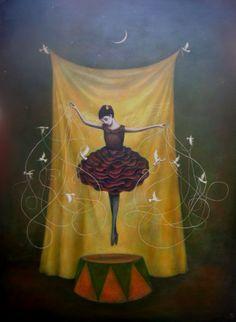 la danza pintura de Duy Huyn