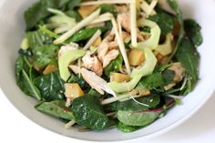 Perhaps a perfect kale salad? Sub in wild caught salmon for a great anti-inflammatory dish