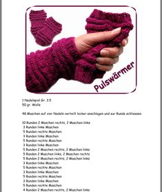 Crochet Gloves, Knit Crochet, Knitting Stitches, Fingerless Gloves, Arm Warmers, Blog, Diy, Winter, Tejidos