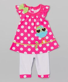 Pink Bird Tunic & Leggings - Infant by Nannette Girl #zulily #zulilyfinds