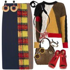 How To Wear Multicolor Outfit Idea 2017 - Fashion Trends Ready To Wear For Plus Size, Curvy Women Over 20, 30, 40, 50