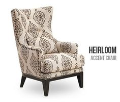 Heirloom Accent Chair from Sofa Mart has a vintage vibe.