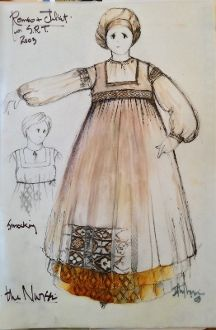 Romeo and Juliet (Nurse). Seattle Repertory Theatre. Costume design by David Murin.