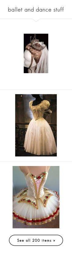 """ballet and dance stuff"" by thesassystewart on Polyvore featuring accessories, costumes, dresses, ballerina costume, ballet costumes, ballerina halloween costume, skirts, black, women's clothing and pink"