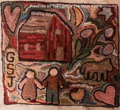 farm rug - primitive