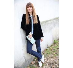 Street look à la Fashion Week automne-hiver 2014-2015 de Paris
