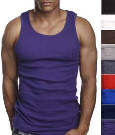 b49f98244fa904 3 Quality 100% Cotton Mens A-Shirt Wife Beater Ribbed Tank Top Undershirt  Vest