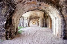 Large arches inside Fort Pickens... Pensacola, Florida