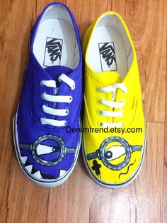 Hey, I found this really awesome Etsy listing at https://www.etsy.com/listing/159766834/vans-minions-shoes-custom-shoes