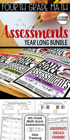 "Easily assess students in math with 28 different ""Quick"" Assessments for 4th Grade Math. *Includes an assessment for each math standard.* These assessments are the perfect tool to quickly check for understanding at the end of a unit. They are also perfect to use as test prep material. Other options include: math centers, math rotations, math groups, morning work, desk work, homework, and summer review."