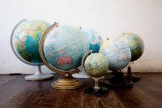 Globes make me smile.