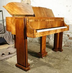 Art-Deco, Strohmenger Baby Grand Piano with a Figured Walnut Case by Besbrode Pianos Leeds, via Flickr
