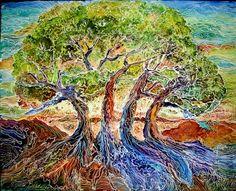 American Art Moves!: TREE of LIFE ~ BATIK ~ COMMISSIONED M BALDWIN