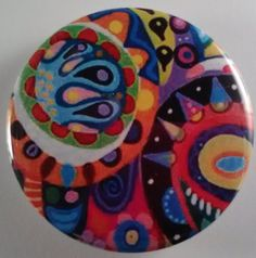 Abstract Group 9  Pocket Mirror Magnet Bottle by kathyshandmade, $3.50