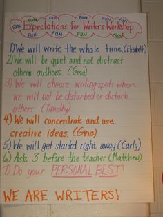 How to Start Writers Workshop