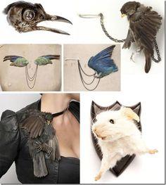 disce mori by julia de ville  oh my, she got a bird on it