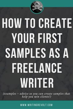 Need to create your first freelance writing portfolio? This comprehensive guide will teach you EXACTLY how to create samples that help you win clients. Start learning now! Writing Portfolio, Blog Writing, Creative Writing, Writing A Book, Writing Tips, Writing Prompts, Writing Humor, Writing Resources, Portfolio Book
