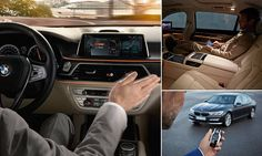 Is this the most hi-tech car EVER? BMW's 7 series boasts a cinema, massage seats and James Bond-style remote driving - and it lets you control the dash using gestures