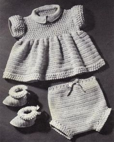 Crochet Pebble Pattern Set for a Baby Girl pattern