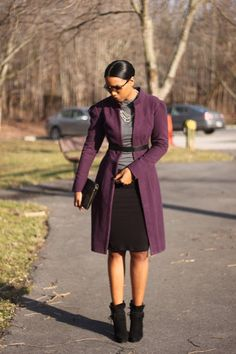 purple eggplant coat