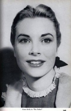A young Grace Kelly, looking like a Disney princess
