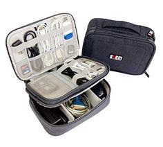 Travel Gear Electronics Accessories Organizer Storage Bag (Gray)