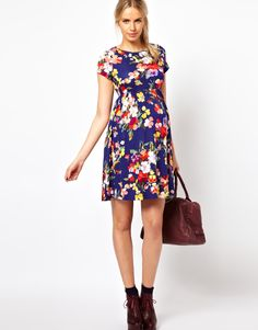 Find the best selection of ASOS Maternity Skater Dress In Floral Print. Shop today with free delivery and returns (Ts&Cs apply) with ASOS! Asos Maternity, Cute Maternity Dresses, Maternity Fashion, Maternity Style, Skater Dress, Dress Up, Pregnancy Outfits, Pregnancy Fashion, Outfit