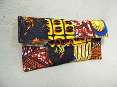 Ankara African Print Patchwork Clutch by FearlessThreads on Etsy
