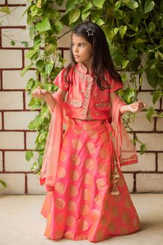 daebbb8cfef Peach Ethnic Silk Lehenga And Blouse With Dupatta Set. Get in touch on + 91