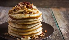 Pancakes aren't just for Shrove Tuesday, you know. Whether you like them with maple syrup, jam, fruit or chocolate, our pancake recipes will have you making pancakes all year round. Pancakes Ricotta, Banana Oat Pancakes, Whole Wheat Pancakes, Banana Oats, Buttermilk Pancakes, Pecan Pancakes, Chickpea Pancakes, Granola, Pancakes Leger