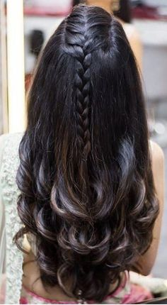 ideas for hair long red braids Easy Hairstyles For Long Hair, Braids For Long Hair, Braided Hairstyles, Wedding Hairstyles, Birthday Hairstyles, Indian Hairstyles, Front Hair Styles, Medium Hair Styles, Curly Hair Styles