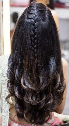ideas for hair long red braids Indian Wedding Hairstyles, Easy Hairstyles For Long Hair, Braids For Long Hair, Braided Hairstyles, Front Hair Styles, Medium Hair Styles, Curly Hair Styles, Hair Upstyles, Hair Looks