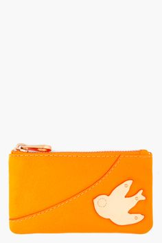 MARC BY MARC JACOBS Orange Leather Key Pouch
