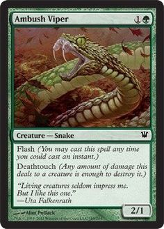 Magic: the Gathering - Ambush Viper - Innistrad -- Wow! I love this. Check it out now! : FREE Toys and Games