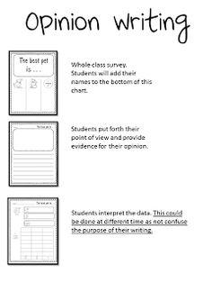 Mrs. Wills Kindergarten: Writing Opinions Free PDF