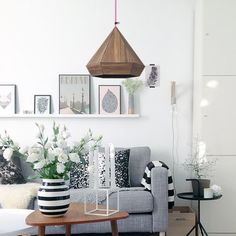 Styling Your Shelves Organizing Your Home, Origami, New Homes, Lounge, Sofa, Shelves, Ceiling Lights, Led, Living Room