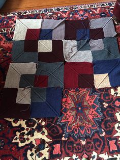 Knitting Modular Mitered On Pinterest Square Blanket