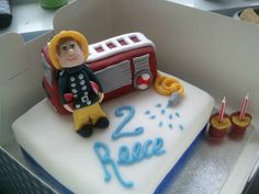 Fireman Sam Cake by Sweetpea cakes and Treats, via Flickr