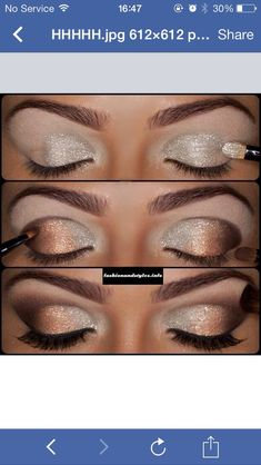 Sparkly Holiday Eye Makeup